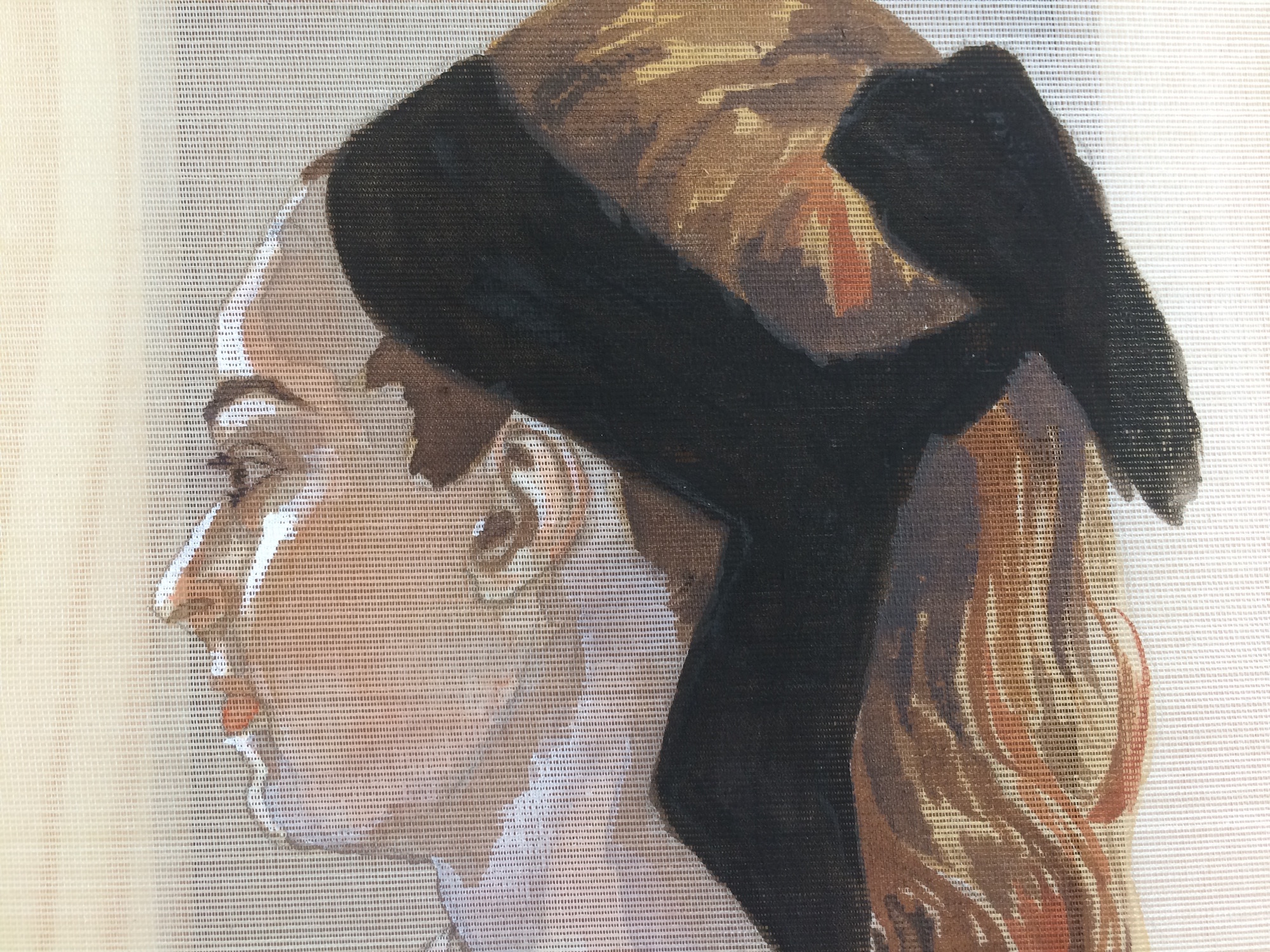 Profile of a Woman with Black Band